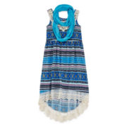 Knit Works Maxi Dress and Scarf - Girls 7-16