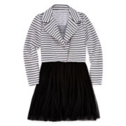 Knit Works Moto Jacket, Dress and Necklace - Girls 7-16 and Plus