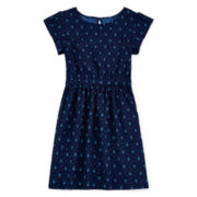 Arizona Shirred-Waist Dress - Girls 7-16 and Plus