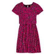 Total Girl® Animal-Print Popover Dress - Girls 7-16 and Plus