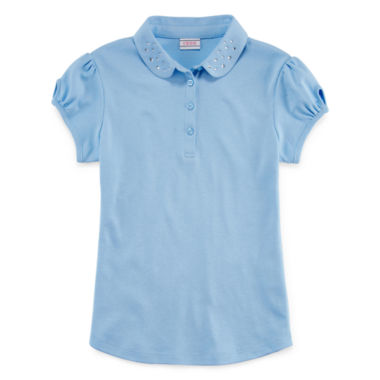 jcpenney.com | IZOD® Short-Sleeve Dazzle-Collar Polo - Girls 7-16 and Plus
