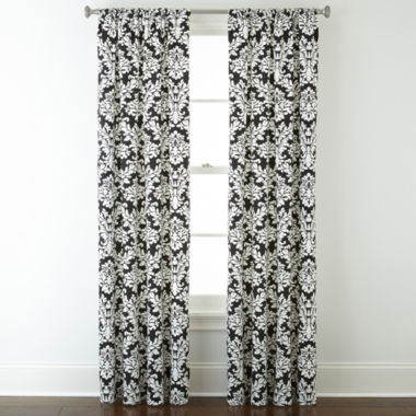 jcpenney.com | Home Expressions™ Thermal Damask Rod-Pocket Curtain Panel
