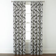 Home Expressions™ Thermal Damask Rod-Pocket Curtain Panel