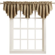 Sun Zero™ Romeo Beaded Rod-Pocket Ascot Valance