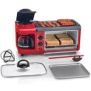 Cooks 3-in-1 Cooking Station Coffee Maker/Toaster Oven/Griddle