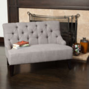 Noel Tufted Fabric Settee