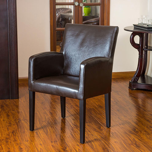 Barnes Bonded Leather Side Chair