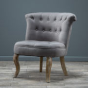 Bordelon Tufted Fabric Wing Chair
