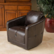 Carrie Bonded Leather Swivel Chair