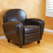 Davis Bonded Leather Club Chair