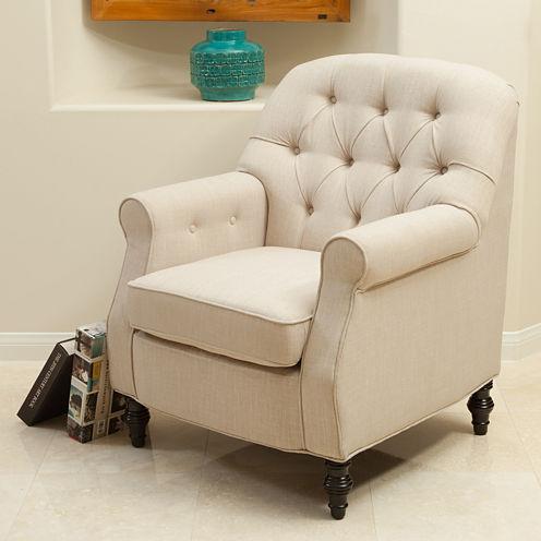 Heather Fabric Club Chair