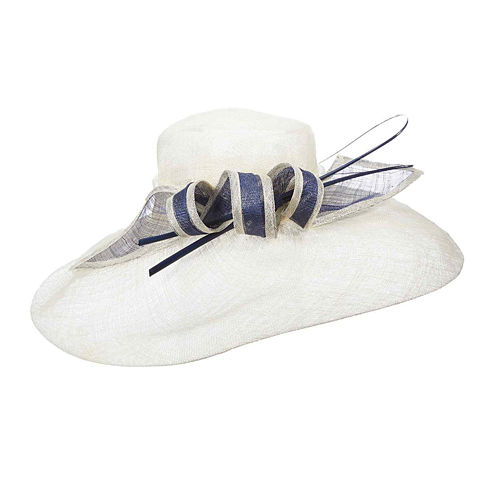 Scala™ Two-Tone Ribbon Sinamay Derby Hat