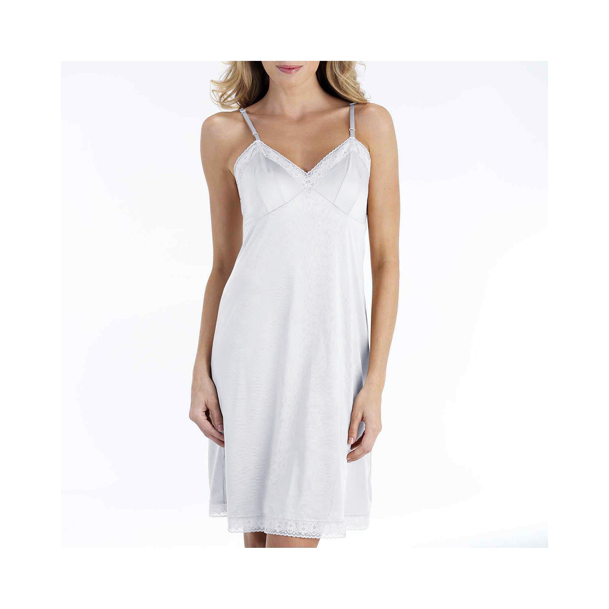 """Vanity Fair 22"""" Rosette Lace Full Slip - 10103 plus size,  plus size fashion plus size appare"""