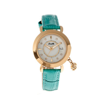 jcpenney.com | Bertha Womens Rose Mother-Of-Pearl Turquoise Leather-Band Watch With Datebthbr5504