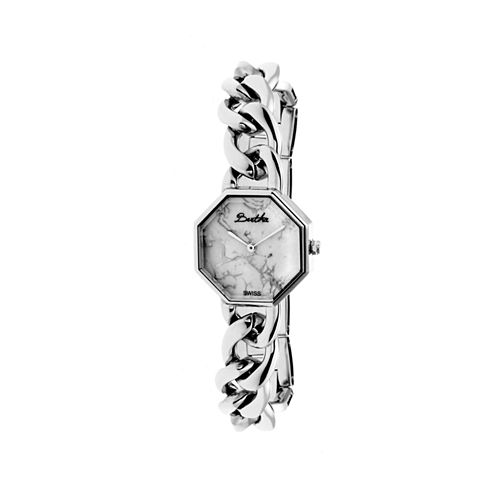 Bertha Womens Ethel Stone-Dial Swiss Silver Bracelet Watchbthbr5801