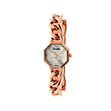 jcpenney.com | Bertha Womens Ethel Stone-Dial Swiss Rose Gold Bracelet Watchbthbr5803