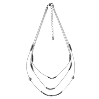 jcpenney.com | The Boutique Silver-Tone 3-Row Chain Necklace