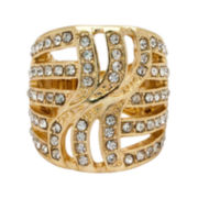 The Boutique Gold-Tone Pave Stretch Ring