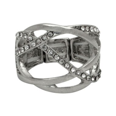 jcpenney.com | The Boutique Silver-Tone Criss-Cross Stretch Ring