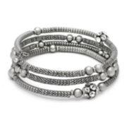 The Boutique Silver-Tone Mesh Coil Bracelet