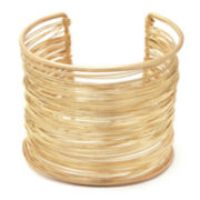 The Boutique Gold-Tone Multi-Row Cuff Bracelet