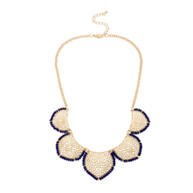 jcpenney.com | Bleu™ Blue Bead Gold-Tone Collar Necklace