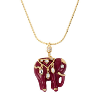 jcpenney.com | Bleu™ Elephant Gold-Tone Pendant Necklace