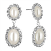 Vieste® Simulated Pearl Double Drop Earrings