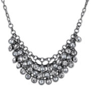 1928® Jewelry Crystal Black-Tone Necklace