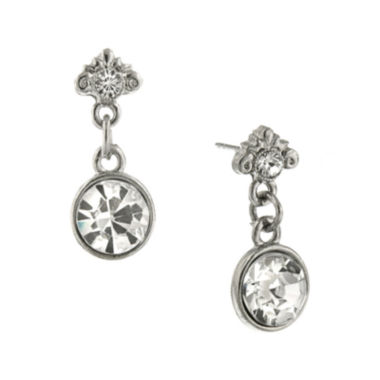 jcpenney.com | 1928® Jewelry Crystal Silver-Tone Earrings