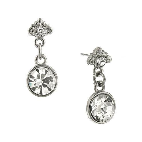 1928® Jewelry Crystal Silver-Tone Earrings