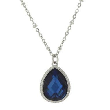 jcpenney.com | 1928® Jewelry Blue Stone and Silver-Tone Pendant Necklace