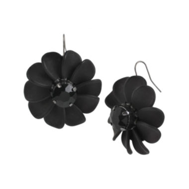 jcpenney.com | Mixit™ Jet 3D Flower Drop Earrings