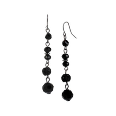 jcpenney.com | Mixit™ Jet Linear Bead Drop Earrings