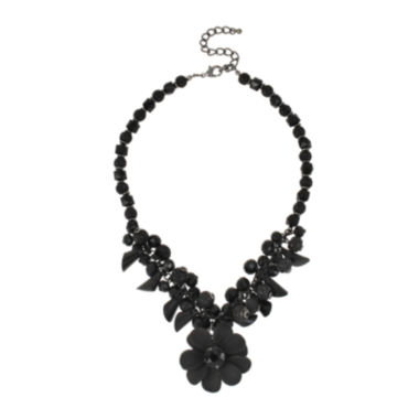 jcpenney.com | Mixit™ Jet Statement Flower Necklace