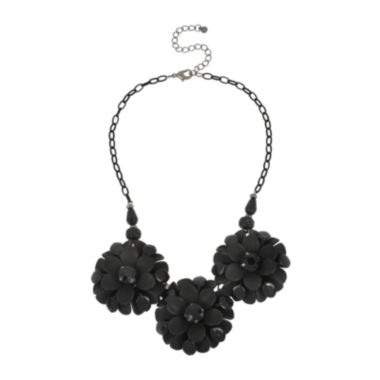 jcpenney.com | Mixit™ Jet 3 Large 3D Flower Necklace
