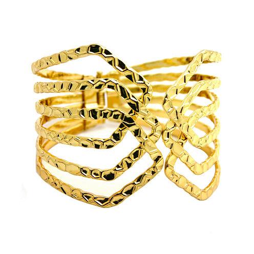 Bold Elements™ Gold Hinge Bracelet