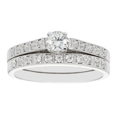 jcpenney.com | LIMITED QUANTITIES 3/8 CT. T.W. Diamond 14K White Gold Engagement Ring