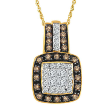 jcpenney.com |  LIMITED QUANTITIES 1/3 CT. T.W. Diamond 10K Yellow Gold Pendant