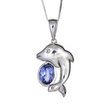 jcpenney.com | LIMITED QUANTITIES Genuine Oval Tanzanite Sterling Silver Pendant