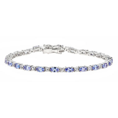 jcpenney.com | LIMITED QUANTITIES Genuine Oval Tanzanite Sterling Silver Bracelet 1