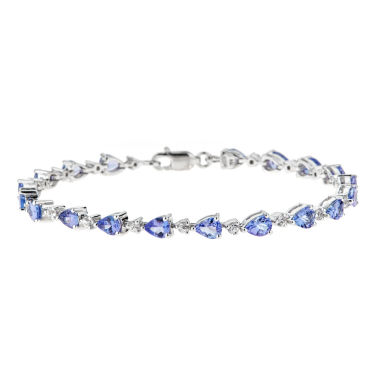jcpenney.com | LIMITED QUANTITIES Genuine Pear-Shaped Tanzanite Sterling Silver Bracelet