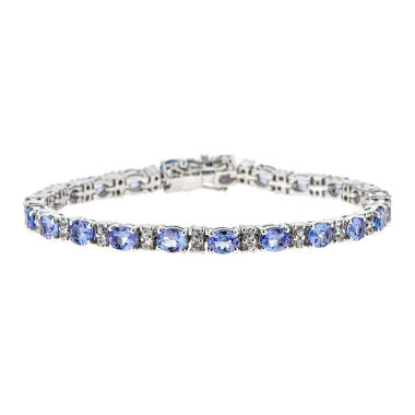 jcpenney.com | LIMITED QUANTITIES Genuine Oval Tanzanite Sterling Silver Bracelet 2