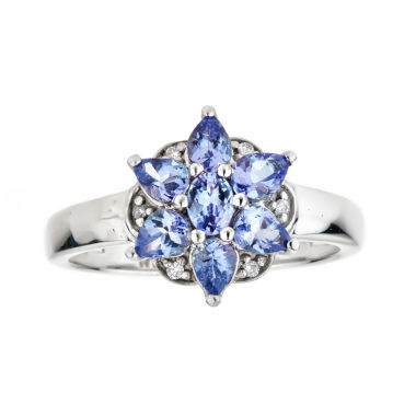 jcpenney.com | LIMITED QUANTITIES Genuine Oval Tanzanite Sterling Silver Ring