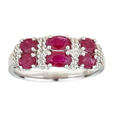 jcpenney.com | LIMITED QUANTITIES Lead Glass-Filled Ruby Sterling Silver Ring