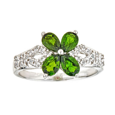 jcpenney.com | LIMITED QUANTITIES Chrome Diopside Sterling Silver Flower Ring