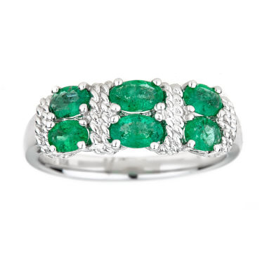jcpenney.com | LIMITED QUANTITIES Lab-Created Emerald Sterling Silver Ring