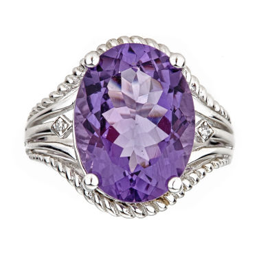 jcpenney.com | LIMITED QUANTITIES Oval Amethyst Sterling Silver Ring