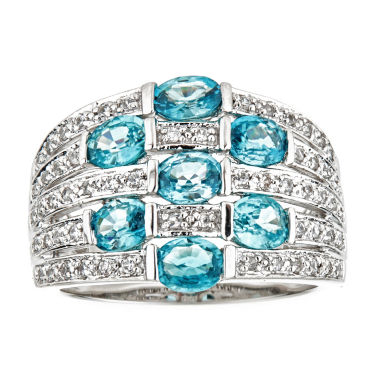 jcpenney.com | LIMITED QUANTITIES Genuine Blue Zircon Sterling Silver Ring