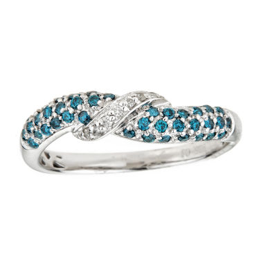 jcpenney.com | LIMITED QUANTITIES Color-Enhanced Blue Diamond Sterling Silver Ring